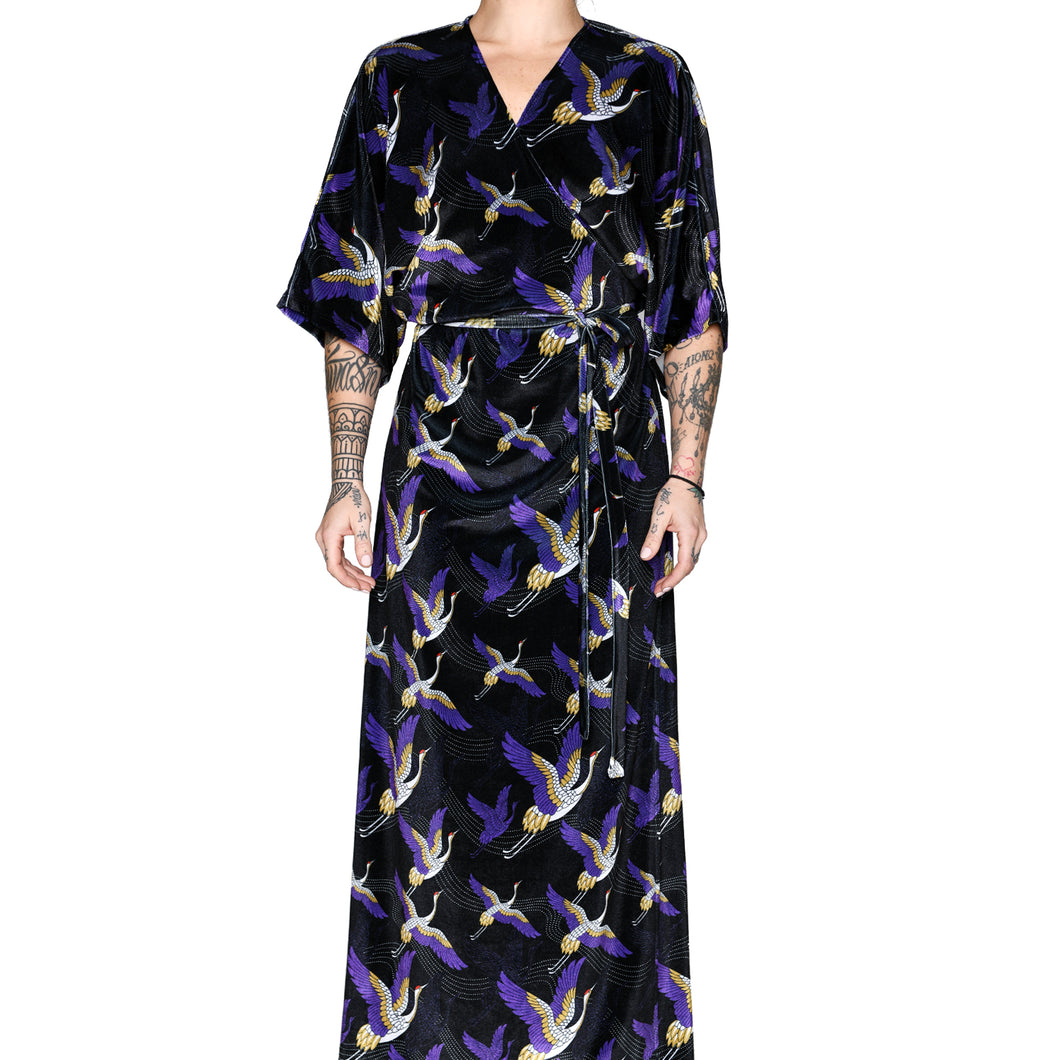 Japanese Velvet Maxi Wrap Dress #3
