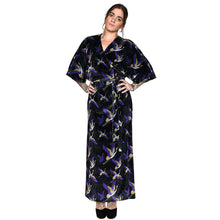 Load image into Gallery viewer, Japanese Velvet Maxi Wrap Dress #3