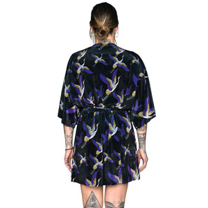 Japanese Velvet Mini Wrap Dress #3