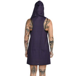 Geometric Hooded Tank Dress #14