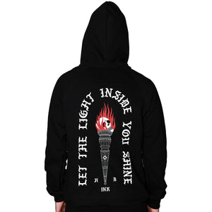 Let the Light Inside You Shine Zip-Up Hoodie