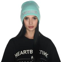 Load image into Gallery viewer, HeartbeatInk Mint Embroidered Beanie