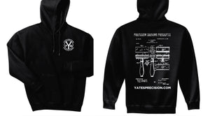 Yates Precision Gillette Patent Hoodie, Black