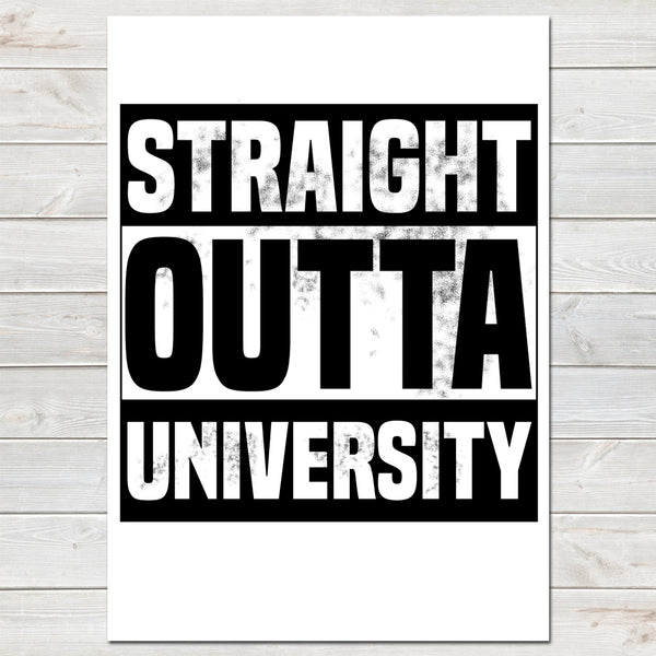 'Straight Outta Compton' Personalised Gift, Hometown / Funny Bedroom Print