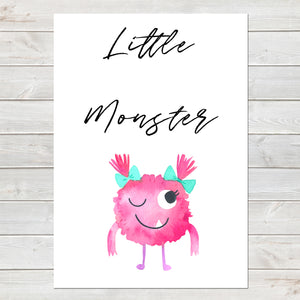 Little Monster, Kids Gift, Fun Bedroom Print G