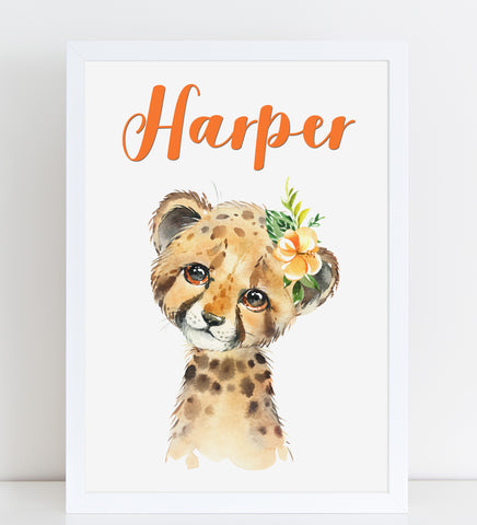 Baby Cheetah Print, Cute Personalised Animal Print for Kids