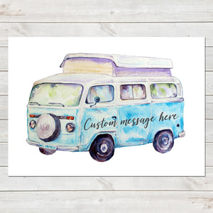 Personalised Campervan Print, Wedding/Anniversary Gift, Custom Home Decor