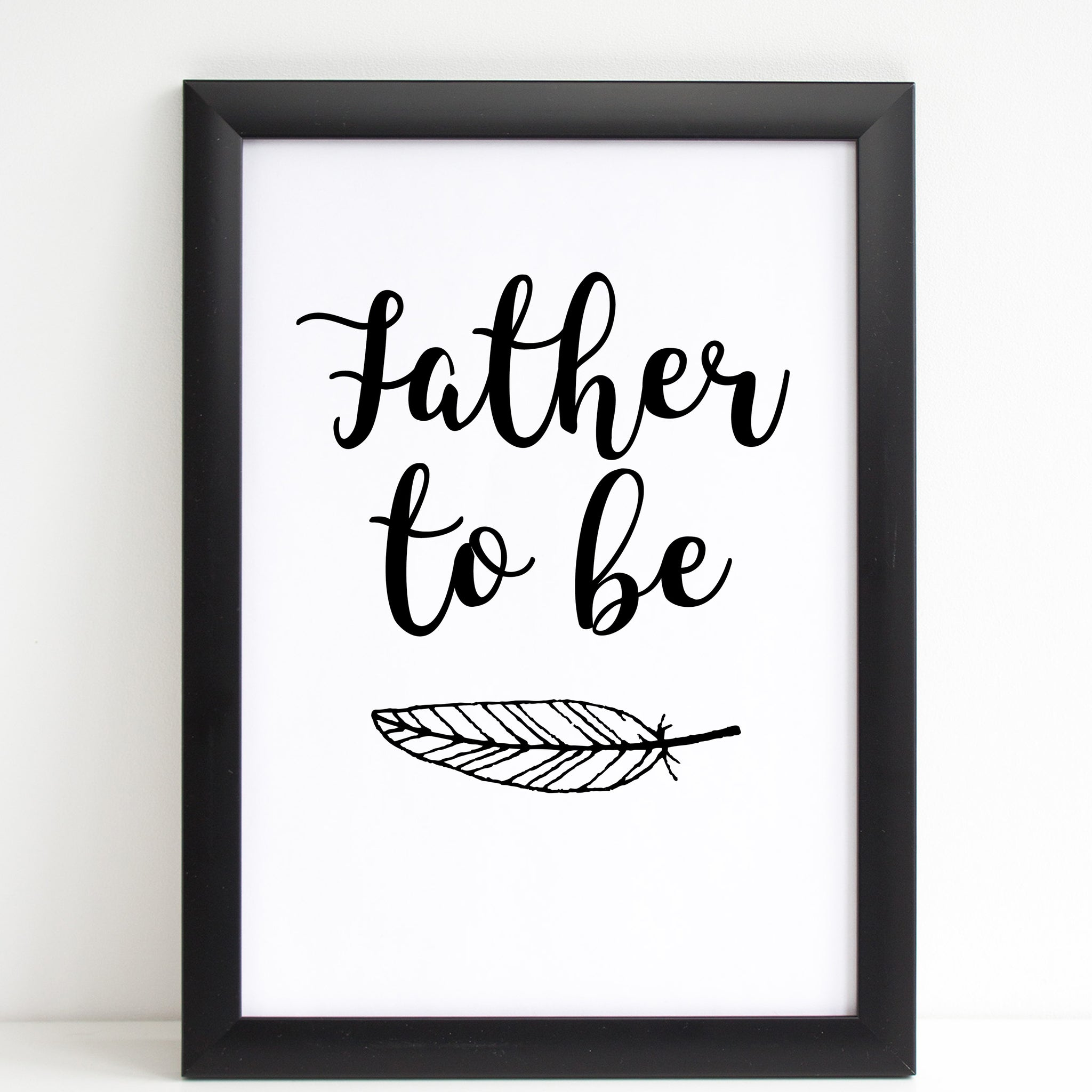 Fathers Day Print 'Father To Be' Poster Pregnancy Gift, A4 or A3, Framed Available