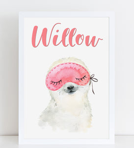 Baby Seal with Eye / Sleep Mask Print, Cute Personalised Animal Print for Kids