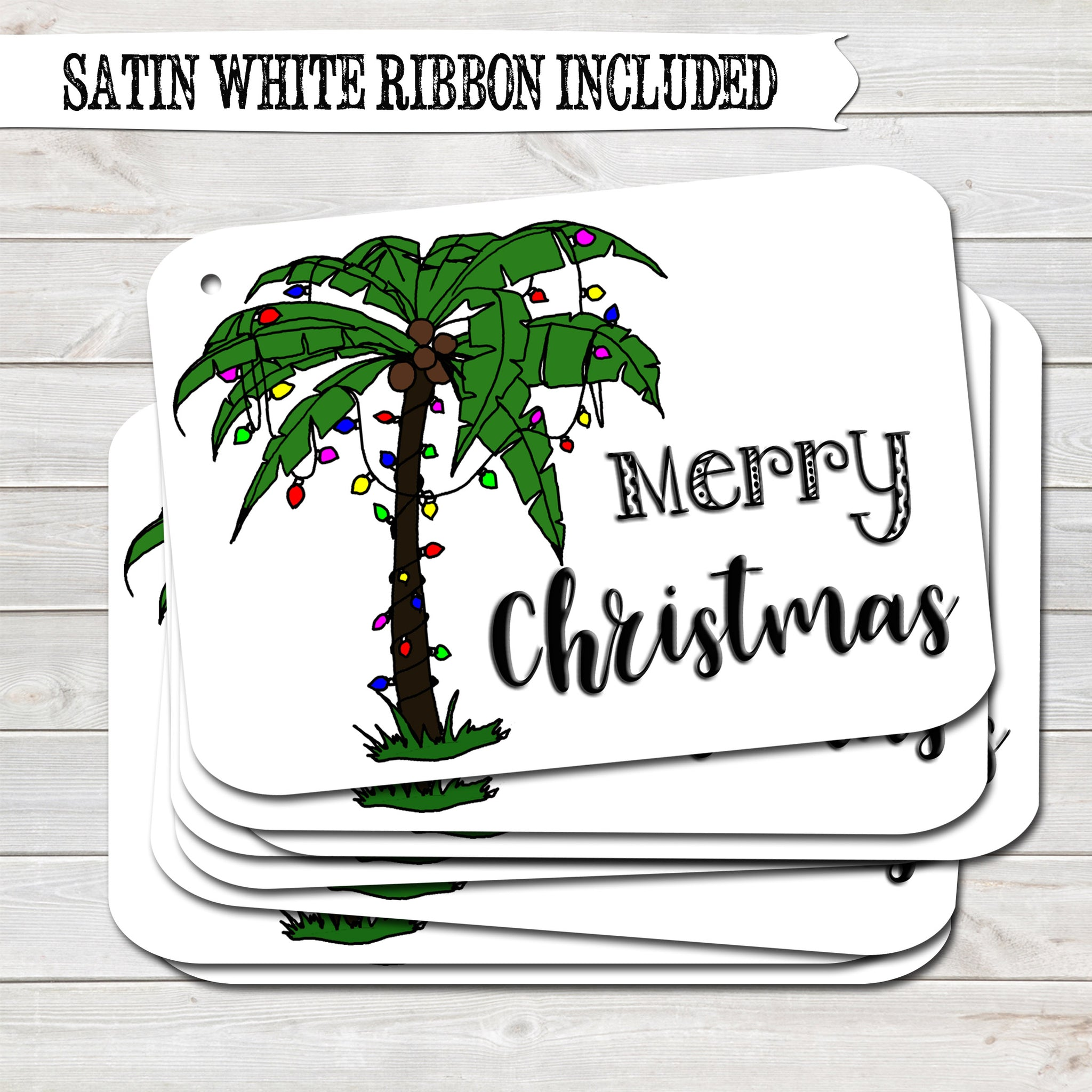 Christmas Gift Tags, Summer Holiday, Present Accessories White (Pack of 8)
