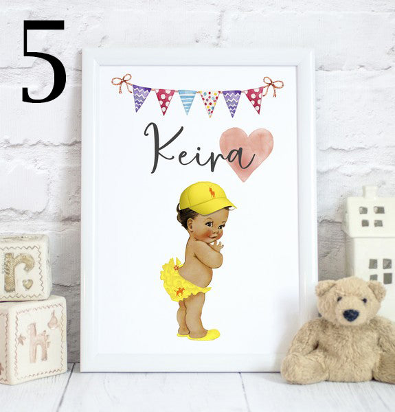 Sporty Baby Girl Name, Toddler Bedroom Print/Personalised Nursery Decor