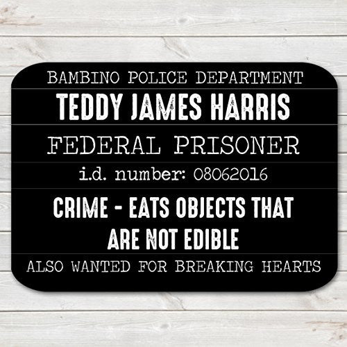 Baby / Toddler Mugshot Sign - Funny Personalised Photo Prop for Memorable Milestones