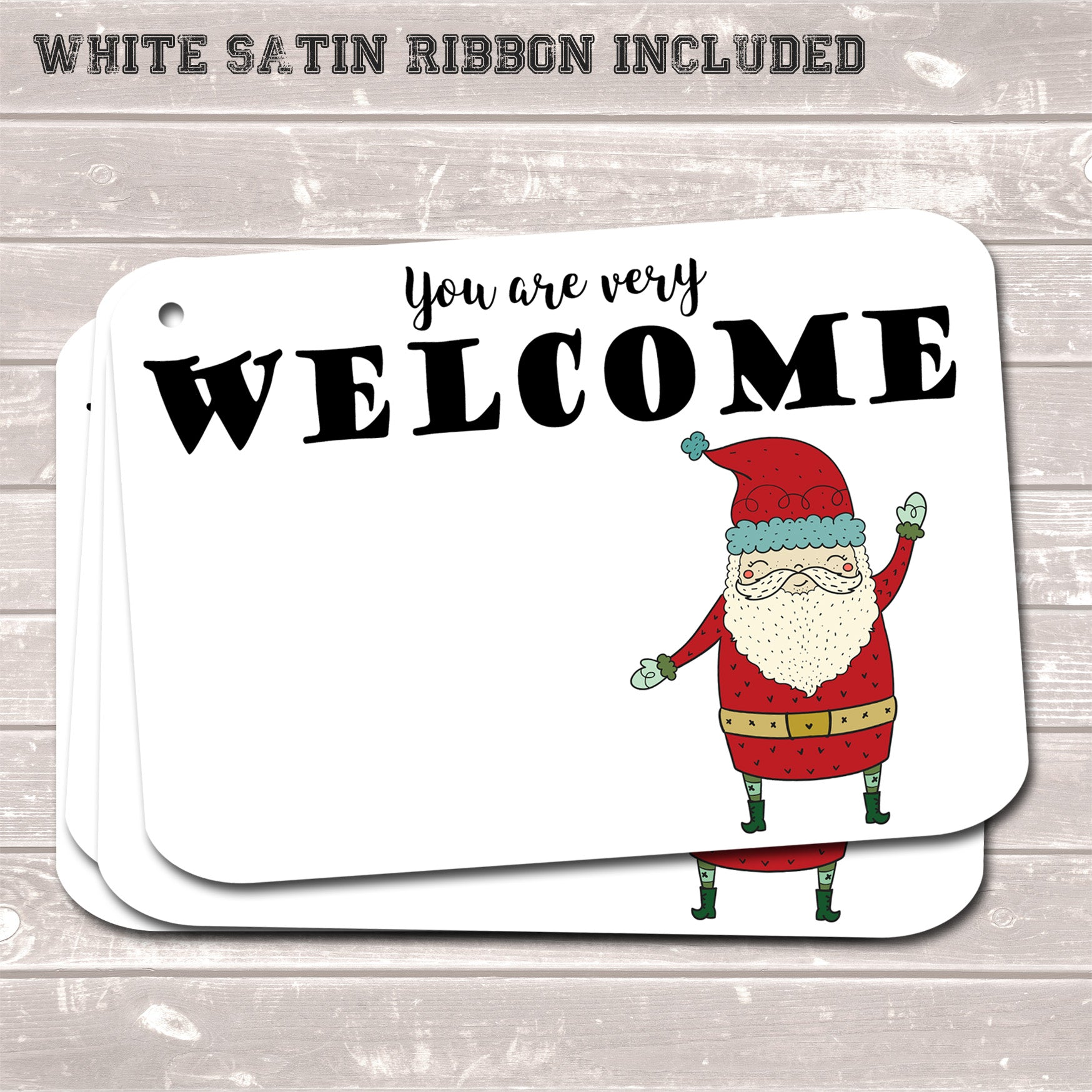 Christmas Gift Tags, You are Very Welcome, Present Accessories White (Pack of 8)