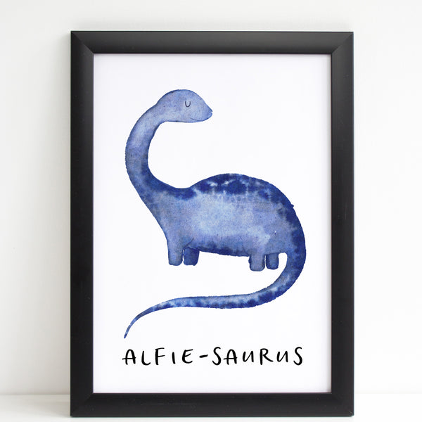 Dinosaur Name Print, Cute Personalised Bedroom Print for Kids, Gift