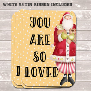 Christmas Gift Tags, You Are So Loved, Present Accessories (Pack of 8)