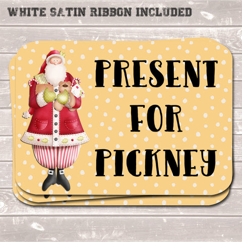 Christmas Gift Tags, Present for Pickney, Funny Present Accessories (Pack of 8)