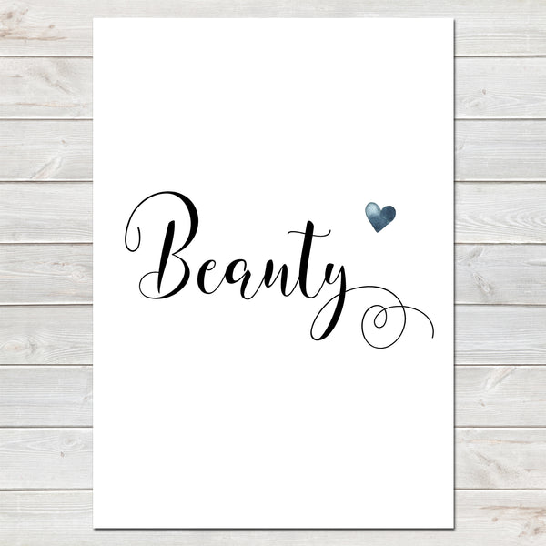 Beauty Valentines New Home Wall Decor / Gift / Heart Print