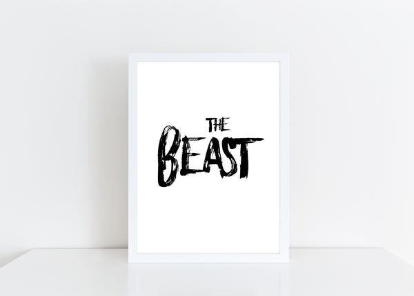 The Beast Valentines New Home Wall Decor / Gift / Love Print