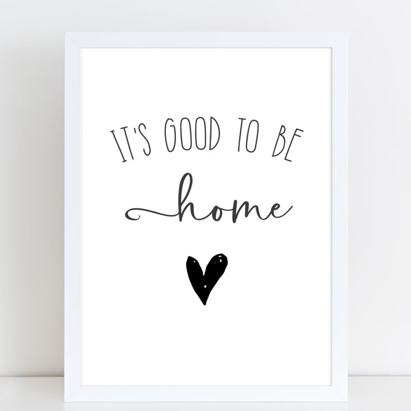 It's Good To Be Home, New Home Gift, Wall Decor A4 or A3