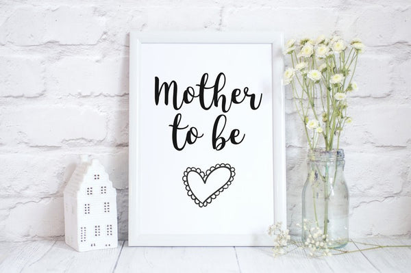 Mothers Day Print 'Mother To Be' Poster Pregnancy Gift