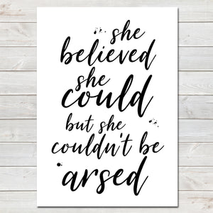 She Believed She Could Fun Poster Gift for Her