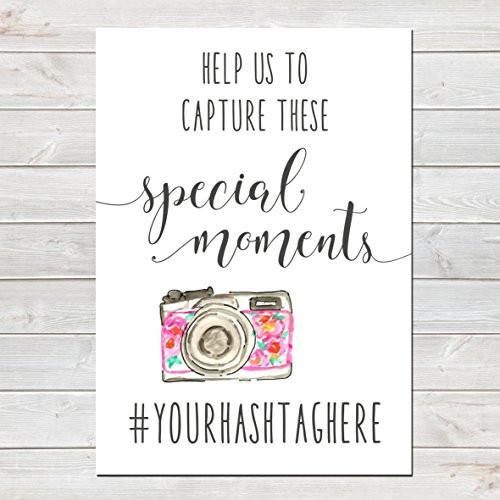 Wedding Hashtag for Social Network Sharing Camera Poster / Personalised Print- CLICK FOR MORE COLOURS- A4