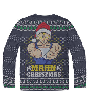Majin Christmas DBZ Ugly Sweater Sublimation Long Sleeve - movie cartoon anime hoodie - Planet Vegeta