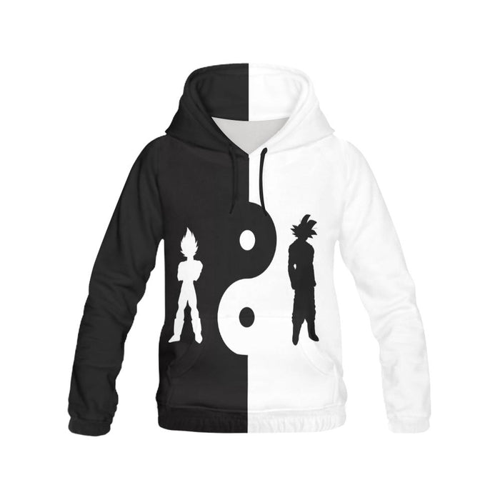 DBZ YinYang Men's All Over Print Hoodie (USA Size) (Model H13)