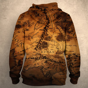 Lord Of The Ring Map Hoodie 0169