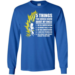 5 THINGS SAIYAN UNCLE VEGETA LS Ultra Cotton T-Shirt