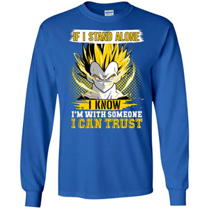 DBZ VEGETA ALONE TRUST LS Ultra Cotton T-Shirt