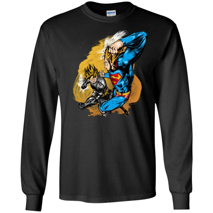 DBZ - BATMAN VS SUPERMAN LS Ultra Cotton T-Shirt