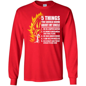 5 THINGS SAIYAN UNCLE LS Ultra Cotton T-Shirt