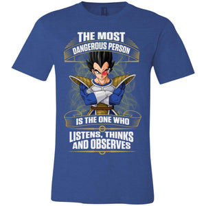 DBZ VEGETA OBSERVES Unisex Jersey Short-Sleeve T-Shirt