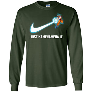 DBZ JUST KAMEHAMEHA IT BLUE LS Ultra Cotton T-Shirt