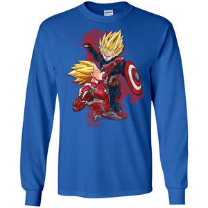 DBZ - CAPT VS IRONMAN LS Ultra Cotton T-Shirt