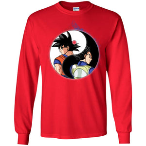 YINYANG DBZ BACK FACE LS Ultra Cotton T-Shirt