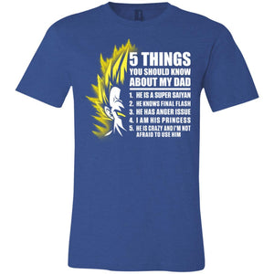 5 THINGS SAIYAN DAD VEGETA Unisex Jersey Short-Sleeve T-Shirt