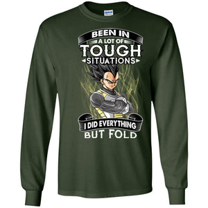 DBZ VEGETA BUT FOLD LS Ultra Cotton T-Shirt