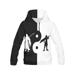 Final Fantasy VII YinYang Men's All Over Print Hoodie (USA Size) (Model H13)