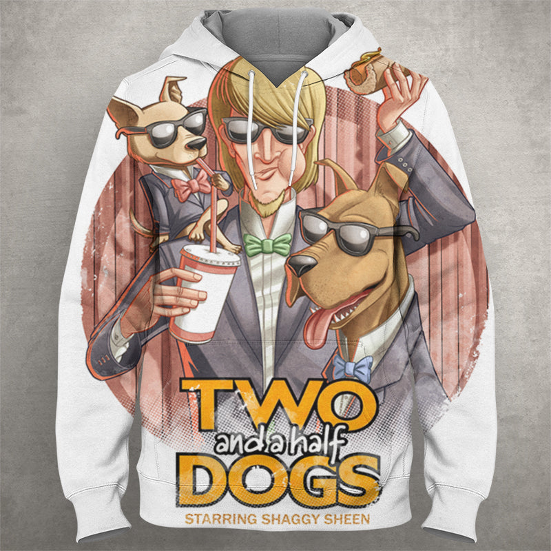Two And A Half Dogs Hoodie 0018