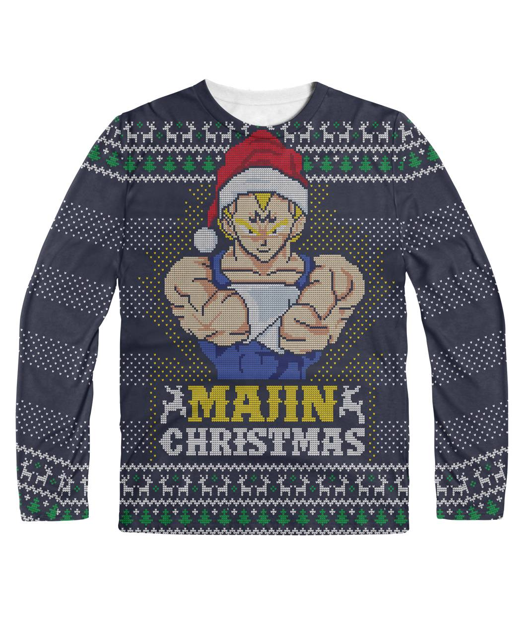Majin Christmas Dbz Ugly Sweater Planet Vegeta