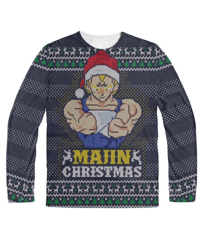Majin Christmas DBZ Ugly Sweater Sublimation Long Sleeve