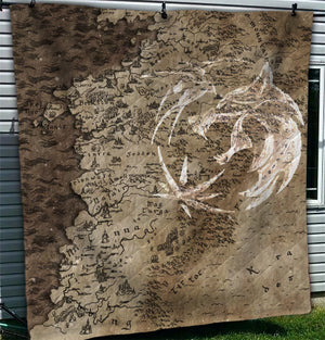 WC Map BLANKET Quilt