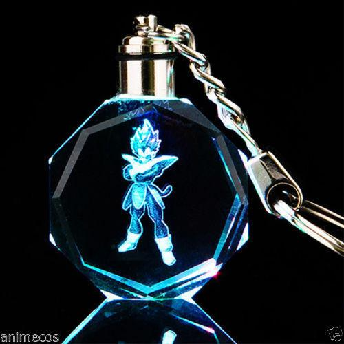 Dragon Ball Dragonball Z Vegeta Crystal Key Chain LED
