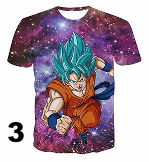 Newest Galaxy Space Goku 3d t shirts - movie cartoon anime hoodie - Planet Vegeta