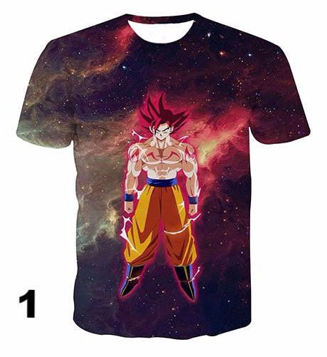 Newest Galaxy Space Goku 3d t shirts