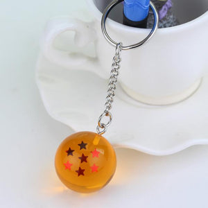 Dragon Ball Super Keychain 3D 1-7 Stars Cosplay Crystal Ball Key chain Collection Toy Gift key Ring
