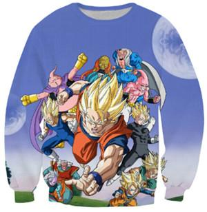 Dragon Ball Z 3d Print Sweaters v1 (ASIAN Size) - movie cartoon anime hoodie - Planet Vegeta