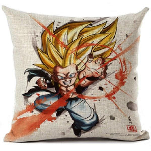FLASH SALE Dragon Ball GoKu LINEN Pillow Cover - movie cartoon anime hoodie - Planet Vegeta